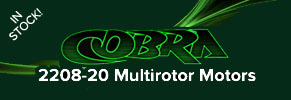 Cobra 2208 Motors IN STOCK!