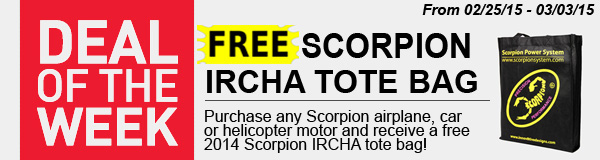 Free Scorpion tote bag with any Scorpion motor purchase!