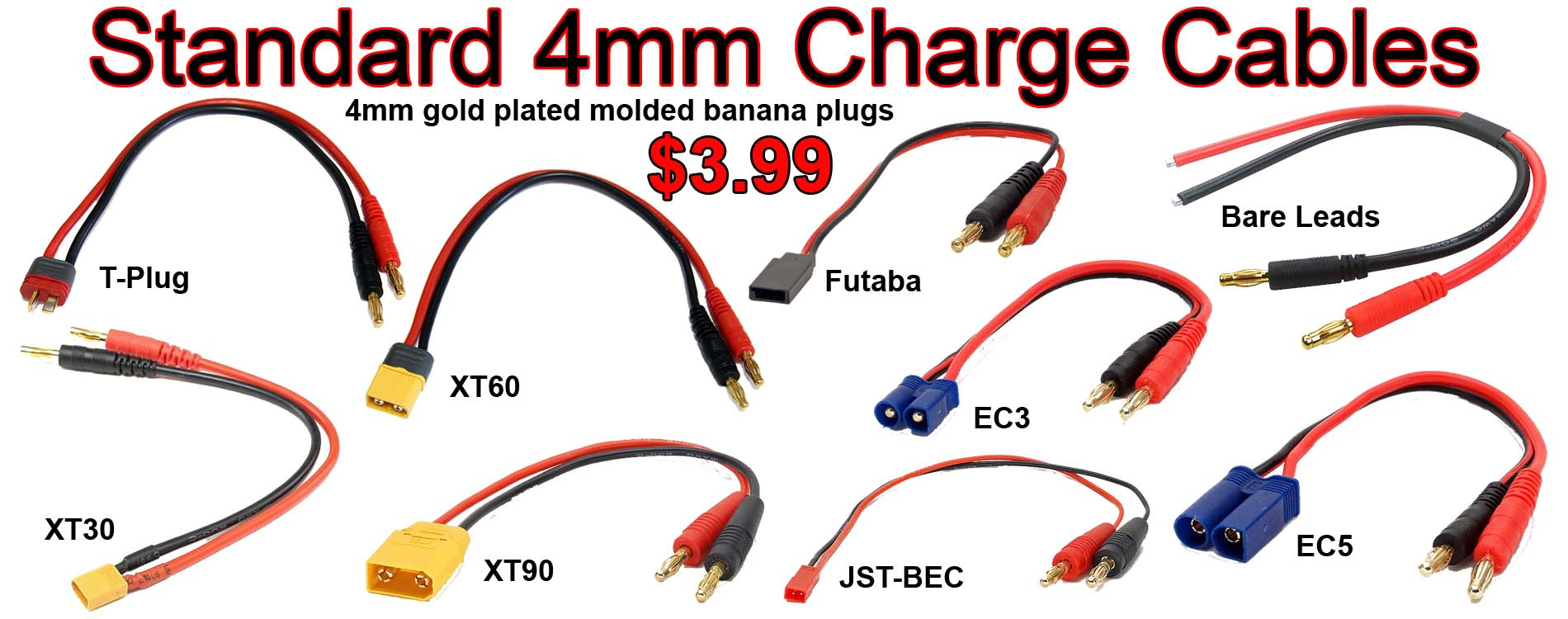 4mm Charge Cables