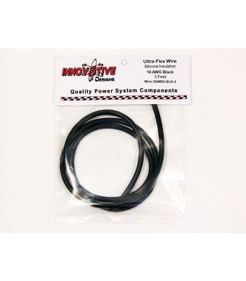 Ultra-Flex Wire, 10-AWG Black, 3-Feet