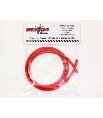 Ultra-Flex Wire, 10-AWG Red, 3-Feet