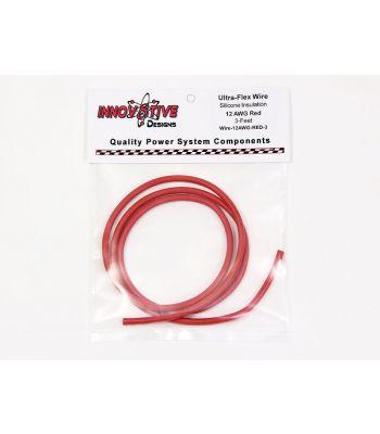 Ultra-Flex Wire, 12-AWG Red, 3-Feet