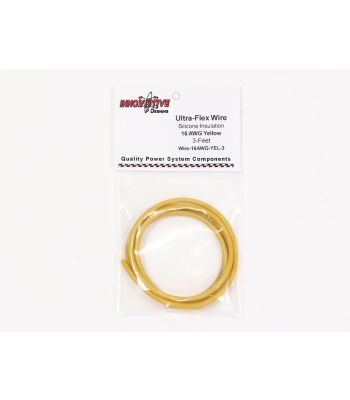 Ultra-Flex Wire, 16-AWG Yellow, 3-Feet