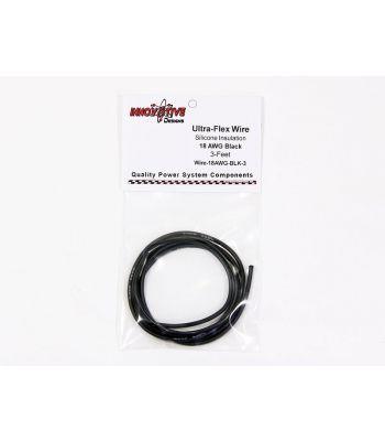 Ultra-Flex Wire, 18-AWG Black, 3-Feet