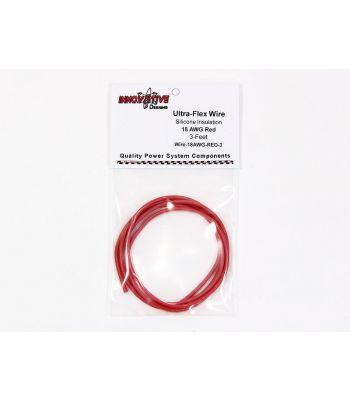 Ultra-Flex Wire, 18-AWG Red, 3-Feet