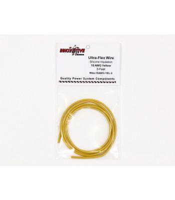 Ultra-Flex Wire, 18-AWG Yellow, 3-Feet