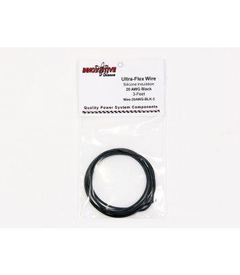 Ultra-Flex Wire, 20-AWG Black, 3-Feet