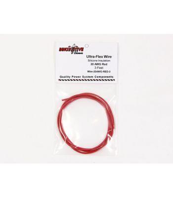 Ultra-Flex Wire, 20-AWG Red, 3-Feet