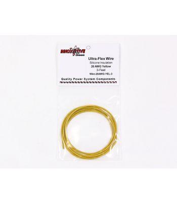 Ultra-Flex Wire, 20-AWG Yellow, 3-Feet