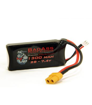 BadAss 45C 1300mah 2S LiPo Battery