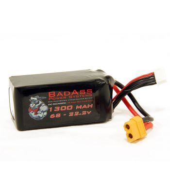 BadAss 45C 1300mah 6S LiPo Battery