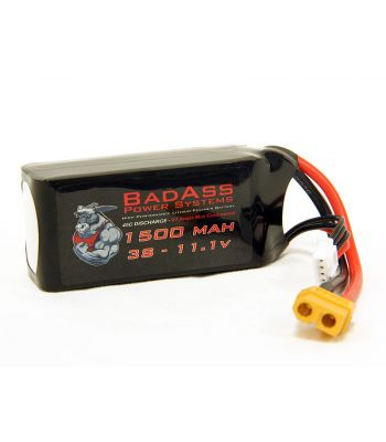 BadAss 45C 1500mah 3S LiPo Battery