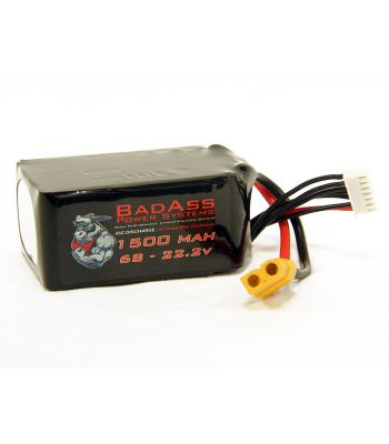 BadAss 45C 1500mah 6S LiPo Battery