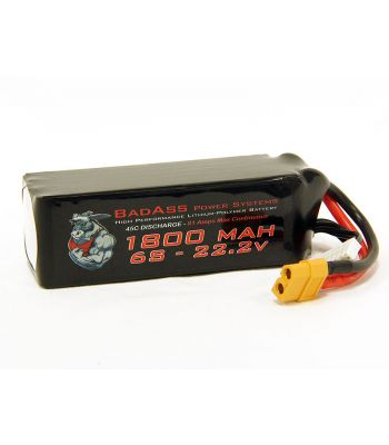 BadAss 45C 1800mah 6S LiPo Battery
