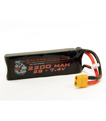 BadAss 45C 2200mah 2S LiPo Battery