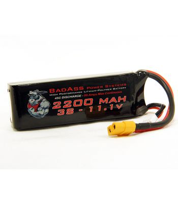 BadAss 45C 2200mah 3S LiPo Battery