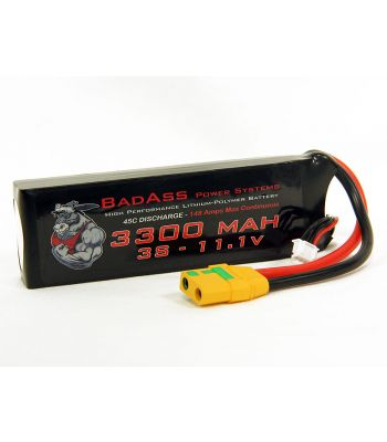 BadAss 45C 3300mah 3S LiPo Battery