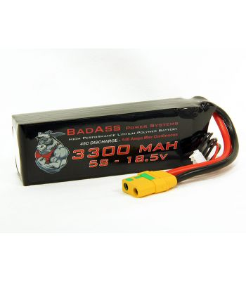BadAss 45C 3300mah 5S LiPo Battery