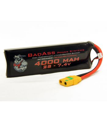 BadAss 45C 4000mah 2S LiPo Battery