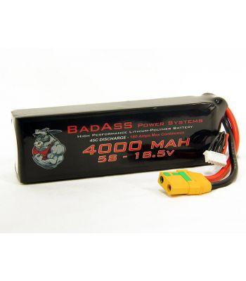 BadAss 45C 4000mah 5S LiPo Battery
