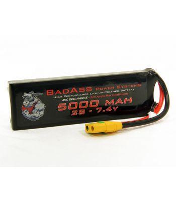 BadAss 45C 5000mah 2S LiPo Battery