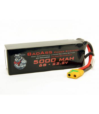 BadAss 45C 5000mah 6S LiPo Battery