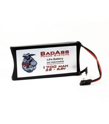 BadAss 25C 1700mah 2S LiFe Battery