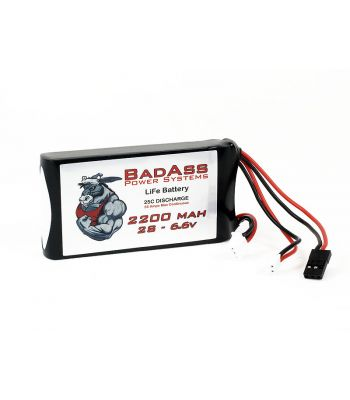 BadAss 25C 2200mah 2S LiFe Battery