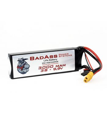 BadAss 25C 3000mah 3S LiFe Battery
