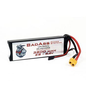 BadAss 25C 3800mah 2S LiFe Battery