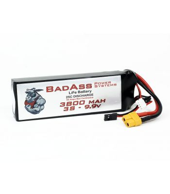 BadAss 25C 3800mah 3S LiFe Battery
