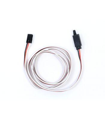 Safety Clip Servo Extension with Futaba Connectors, 22ga 36 inch