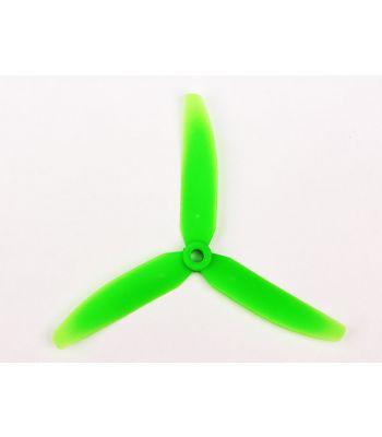 GemFan 5x3, Prop, 3-Blade, Green, Reverse Rotation