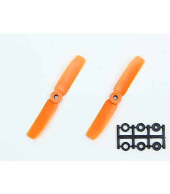 HQ 4x4 Bull-Nose Prop, Orange, Normal Rotation (2-Pack)