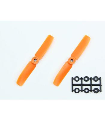 HQ 4x4 Bull-Nose Prop, Orange, Reverse Rotation (2-Pack)