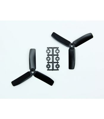 HQ 4x4 Bull-Nose Prop, Black, 3-Blade, Normal Rotation (2-Pack)