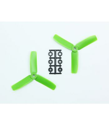HQ 4x4 Bull-Nose Prop, Green, 3-Blade, Normal Rotation (2-Pack)