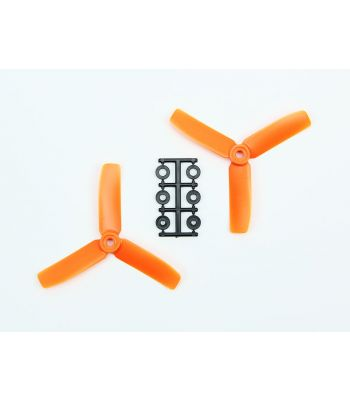 HQ 4x4 Bull-Nose Prop, Orange, 3-Blade, Normal Rotation (2-Pack)