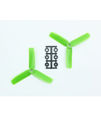 HQ 4x4 Bull-Nose Prop, Green, 3-Blade, Reverse Rotation (2-Pack)