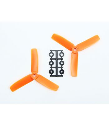 HQ 4x4 Bull-Nose Prop, Orange, 3-Blade, Reverse Rotation (2-Pack)