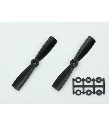 HQ 4x4.5 Bull-Nose Prop, Black, Normal Rotation (2-Pack)