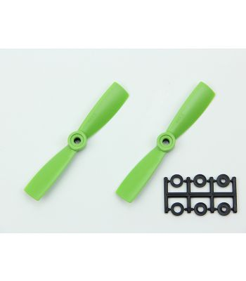 HQ 4x4.5 Bull-Nose Prop, Green, Normal Rotation (2-Pack)