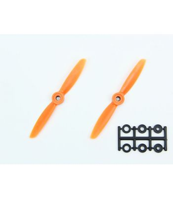 HQ 4x4.5 Prop, Orange, Normal Rotation (2-Pack)