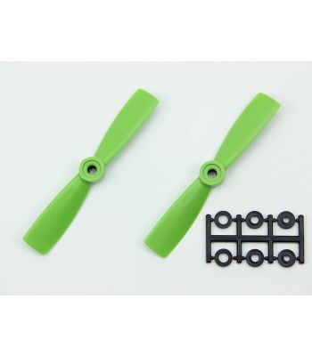 HQ 4x4.5 Bull-Nose Prop, Green, Reverse Rotation (2-Pack)