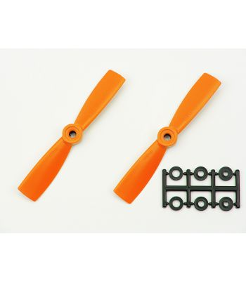 HQ 4x4.5 Bull-Nose Prop, Orange, Reverse Rotation (2-Pack)