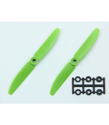 HQ 5x3 Prop, Green, Reverse Rotation (2-Pack)