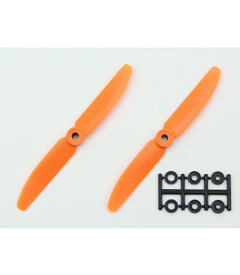 HQ 5x3 Prop, Orange, Reverse Rotation (2-Pack)