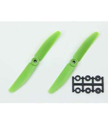 HQ 5x4 Prop, Green, Normal Rotation (2-Pack)