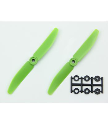 HQ 5x4 Prop, Green, Reverse Rotation (2-Pack)