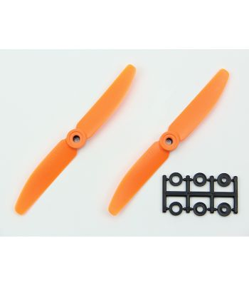HQ 5x4 Prop, Orange, Reverse Rotation (2-Pack)